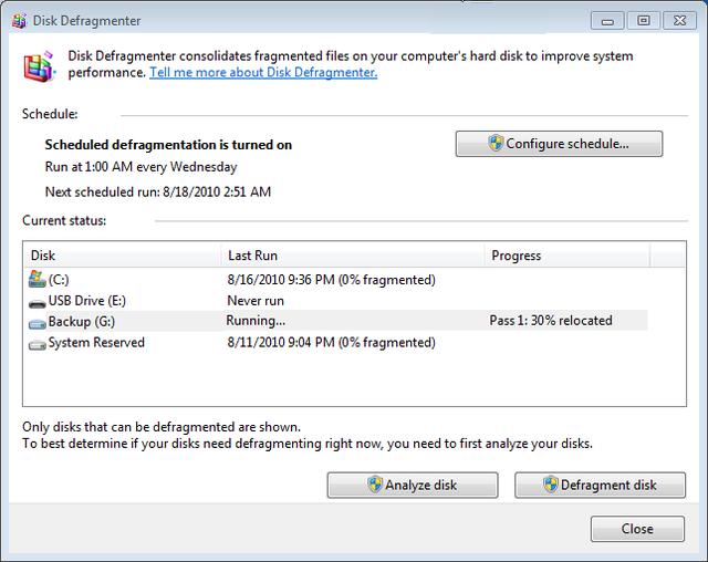 Chương trình chống phân mảnh ổ cứng được tích hợp sẵn bên trong WIndows