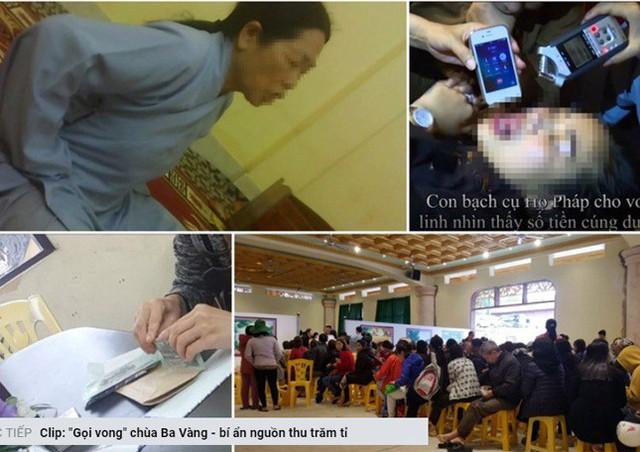 Thông tin vụ việc tại chùa Ba Vàng được Báo Lao động phản ảnh. Ảnh: Chụp từ màn hình