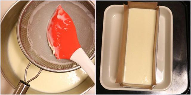Bánh sau khi nướng chín bạn lấy ra, để nguội trên rack rồi nhẹ nhàng úp ngược bánh lại để tách bánh ra khỏi khuôn.