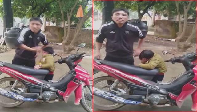 Hình ảnh Nguyễn Chí Công tát con trai khi cãi nhau với vợ cũ. (Ảnh cắt từ clip)