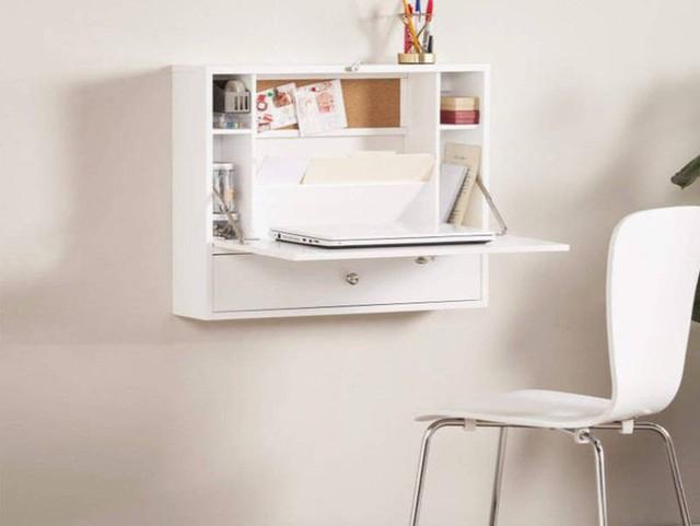 Nếu tất cả những gì bạn cần để tạo một văn phòng tại nhà là một vị trí cho máy tính xách tay, bàn nhỏ treo tường này có thể là giải pháp hoàn hảo.