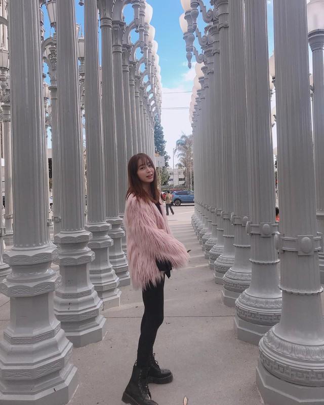 ... bà xã Lee Min Jung đi du lịch tại Mỹ