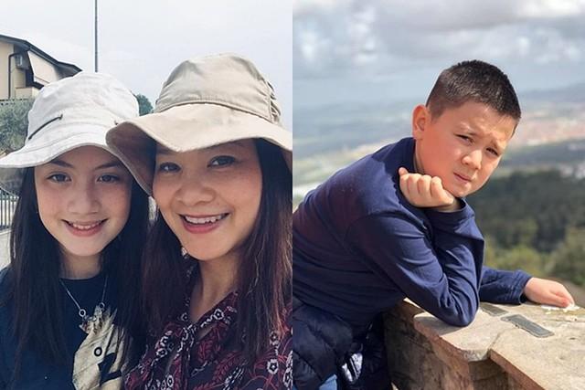 Kim Ngân kể con gái Giulia có nhiều điểm tương đồng với mẹ từ tính cách, sở thích đến ngoại hình. Riêng cậu út Alberto lại giống hệt bố.