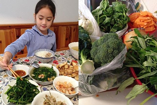 Sinh sống ở nước ngoài khiến Kim Ngân rất nhớ hương vị quê nhà. Thay vì chờ đợi về Việt Nam, cô học cách nấu những món ăn quen thuộc, vừa thay đổi thực đơn của gia đình vừa giúp các bé biết về ẩm thực của Việt Nam.