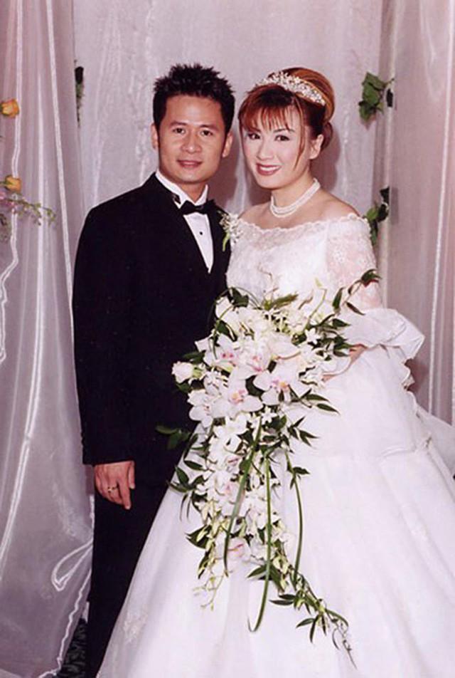 Bằng Kiều và Trizzie Phương Trinh tổ chức đám cưới vào năm 2002.