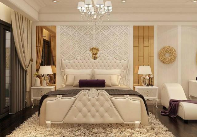 Phòng ngủ ấm cúng của bạn trai giọng ca Rời bỏ rất cổ điển, nhìn qua cũng thấy sự đẳng cấp, vương giả.