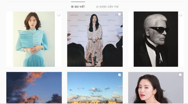 Trang cá nhân hiện tại của Song Hye Kyo