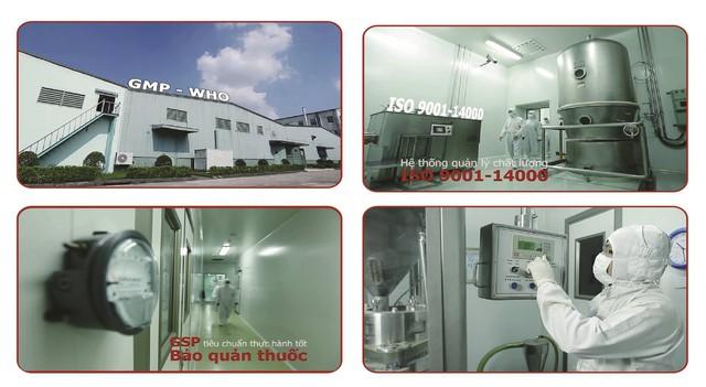 Nhà máy Nam Dược đạt tiêu chuẩn GMP-WHO