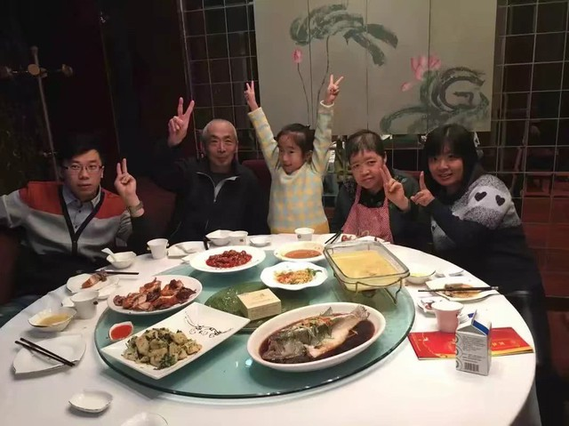 Nguyên Nguyên hạnh phúc bên gia đình nhà vợ