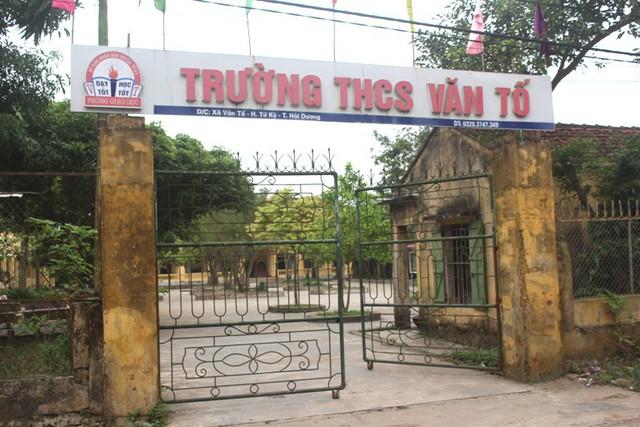 Trường THCS Văn Tố, nơi xảy ra vụ việc. Ảnh: Đ.Tùy