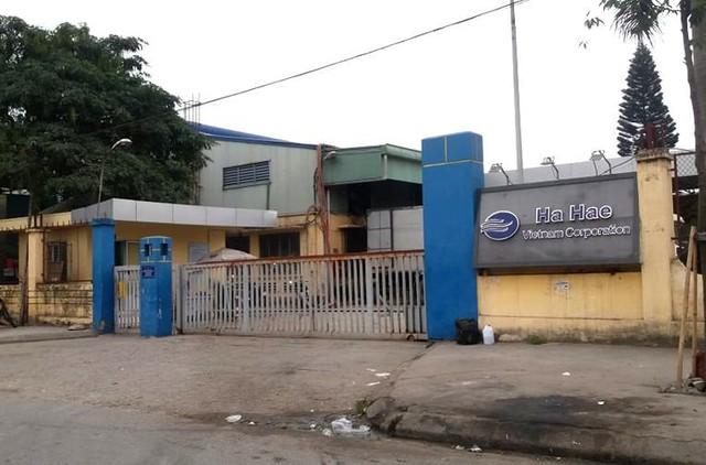 Trụ sở Công ty TNHH Ha Hae Việt Nam, nơi xảy ra sự việc gần trăm công nhân bị ngộ độc thực phẩm sau bữa ăn trưa. Ảnh: Đ.Tùy