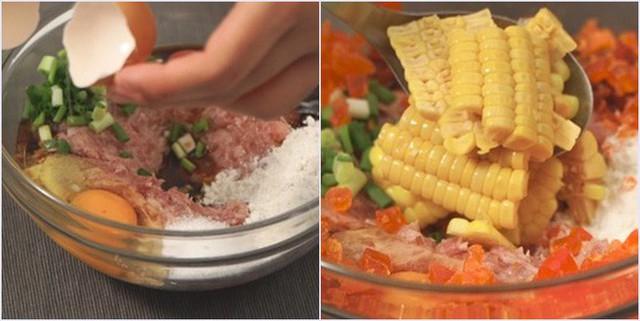 Sau 10 phút, bạn tiến hành nặn thịt thành từng viên nhỏ. Đặt chảo lên bếp, cho dầu ăn vào chảo, dầu nóng thì thả từng viên thịt vào chiên đến khi vàng đều 2 mặt thì vớt ra đĩa có lót sẵn giấy thấm dầu.