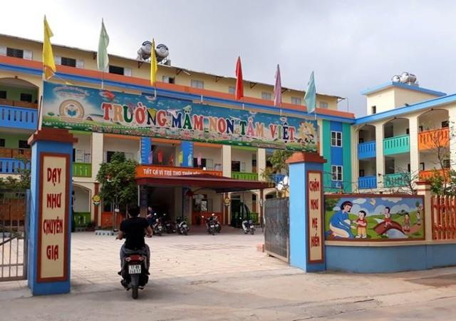 Trường mầm non Tâm Việt, nơi xảy ra sự việc. Ảnh: S.Minh