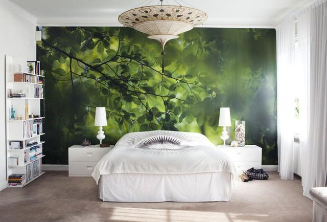 3. Sự chân thực của mẫu giấy khiến bạn ngỡ như chỉ cần với tay cũng có thể chạm đến những nhánh cây xanh non mềm kia.