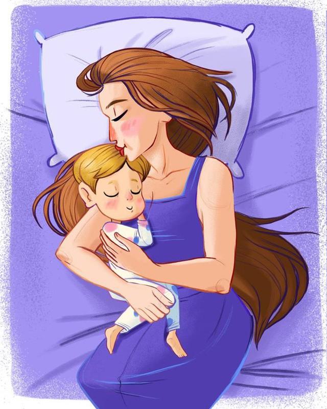 Tạo thói quen ngủ: Nhiều trẻ cảm thấy ngủ là hình phạt và có thói quen ngủ sau khi khóc. Để giúp con có thói quen đúng giờ, cha mẹ nên thực hiện những cách đơn giản như ngồi bên giường, dùng một tay cố định rồi nhẹ nhàng vỗ về con, hay đặt tay lên người trẻ, thở sâu, lắc nhẹ bé, hoặc đọc những mẩu chuyện đơn giản, chèn từ liên quen đến ngủ cho thiên thần nhỏ nghe.