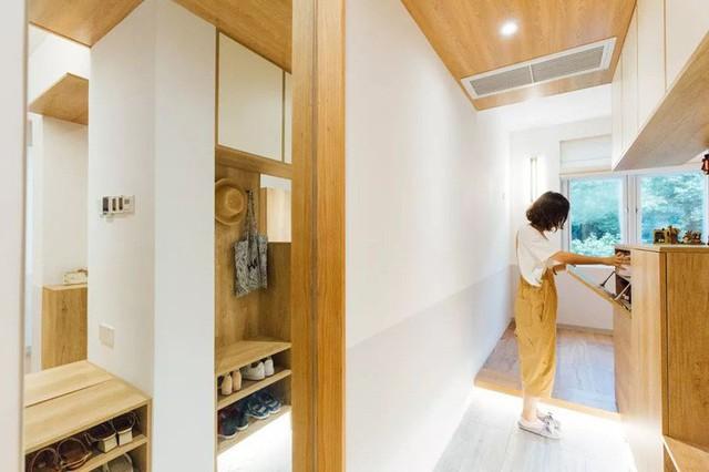 Tủ đựng đồ chủ yếu được chọn màu gỗ ấm cúng.