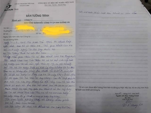 Ngày 3/4 Vinasun đã xác định được xe taxi và làm việc với tài xế nhưng không cung cấp cho khách hàng và phóng viên