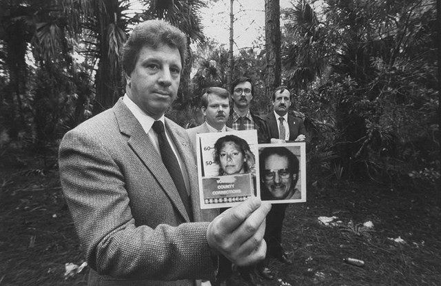 Ảnh chụp Wuormos và Richard Mallory, nạn nhân đầu tiên của cô ta. Ảnh: Allthatsinteresting.com.