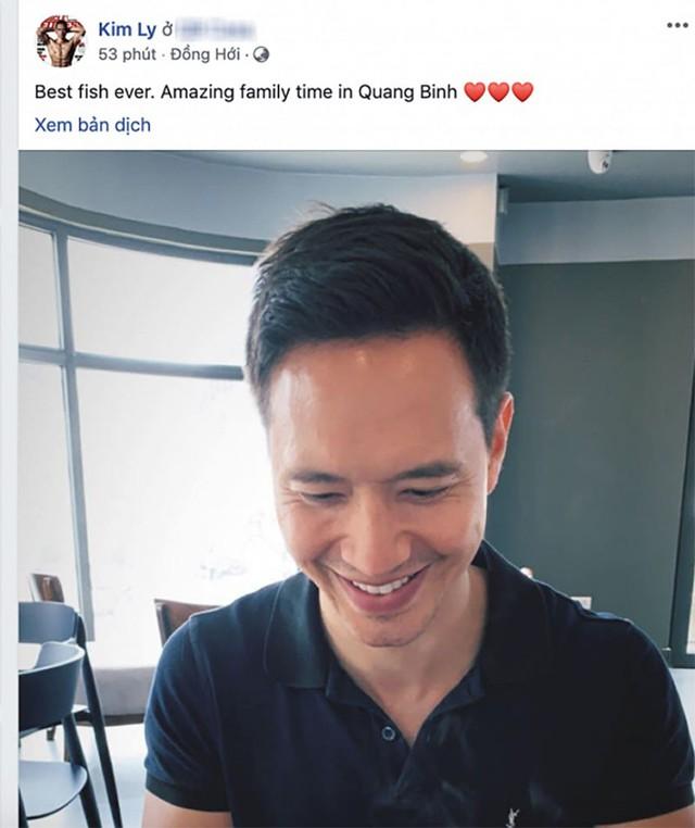 Kim Lý cũng đăng ảnh tương tự và tự nhận đang trải qua thừoi gian hạnh phúc bên gia đình