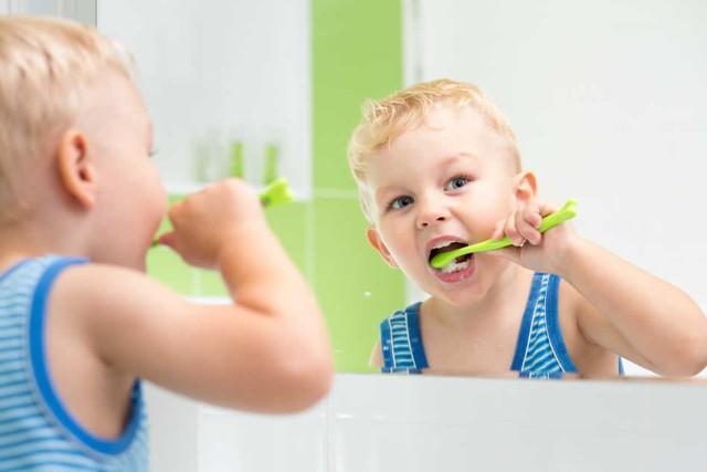 Bác sĩ khuyên nên cho trẻ sử dụng kem đánh răng đạt chuẩn. Ảnh:TL