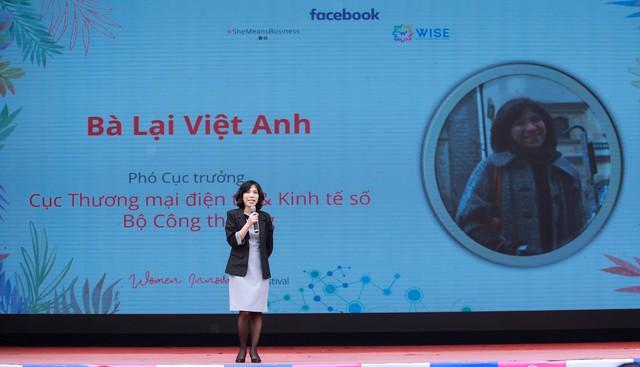 Tham gia vào nền kinh tế số, phụ nữ Việt Nam không thua kém nam giới, bà Việt Anh nhận định