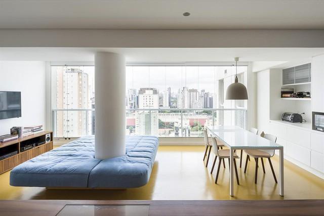Một không gian chung duy nhất với tầm nhìn tuyệt vời ra thành phố.