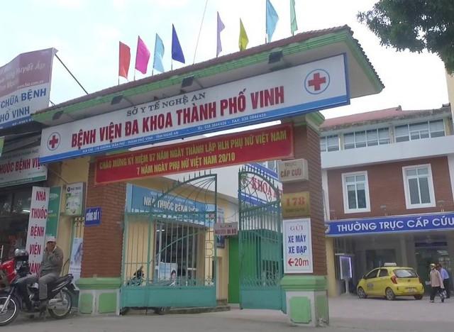 Khoa Nhi, Bệnh viện Đa khoa TP Vinh, Nghệ An là nơi xảy ra vụ việc hành hung bác sĩ