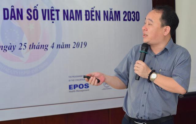 Ông Đinh Thái Hà - Phó Vụ trưởng Vụ Kế hoạch - Tài chính, thường trực Tổ Biên tập xây dựng Chiến lược Dân số Việt Nam đến năm 2030