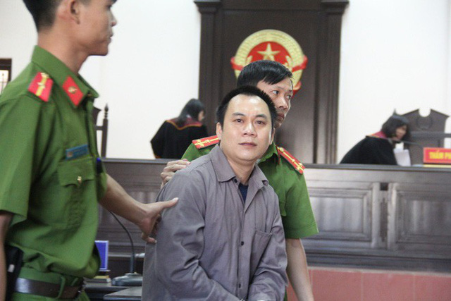 Tài xế Lê Ngọc Hoàng tại phiên toà phúc thẩm tháng 11/2018.