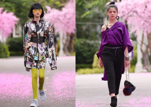 Nhiều cách mix-match cá tính hơn được vận dụng trong trang phục dành cho các thiếu niên.