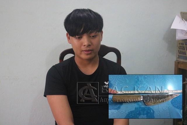Đối tượng Ma Văn Hữu cùng tang vật gây án. Ảnh: Conganbackan.vn