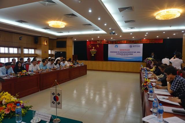 Toàn cảnh Hội thảo Tăng cường hợp tác Việt Nam - Hàn Quốc trong lĩnh vực Dân số và Phát triển