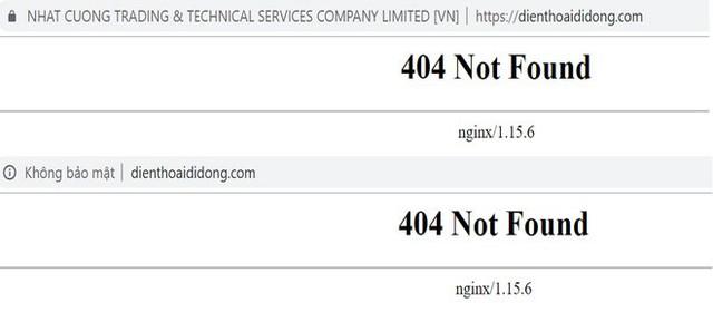 Các kênh liên lạc của điện thoại Nhật Cường đều biến mất sau khi hệ thống cửa hàng bị khám xét và đóng cửa.