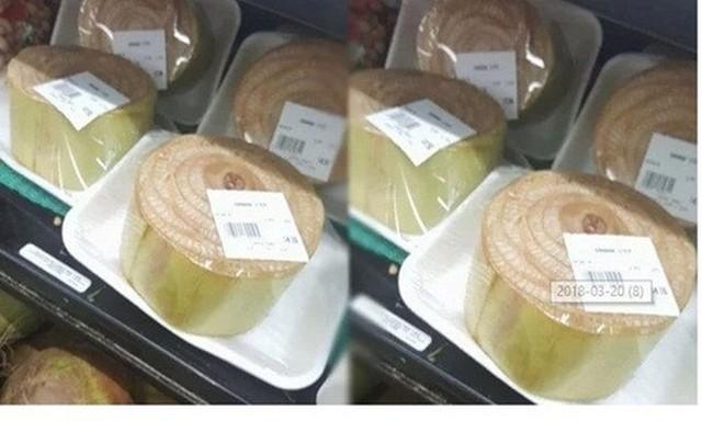 Thân chuối được đóng gói bày bán ở siêu thị Nhật