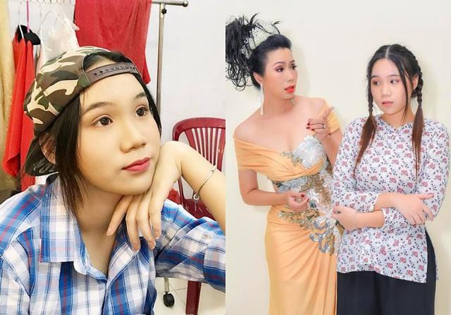 Dù vậy, Khánh Ngân vẫn tham gia một số hoạt động nghệ thuật phù hợp tại sân khấu của Trịnh Kim Chi ở quận 6, TP HCM. 'Lúc nhỏ đi xem kịch, tôi tưởng tượng mình diễn xuất ra sao trên sân khấu. Từ đó, tôi thử sức theo học lớp diễn xuất với mẹ', nữ sinh kể.