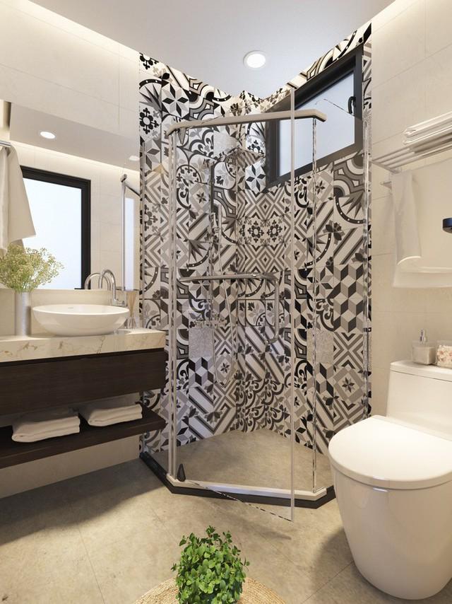 Phòng tắm hiện đại sang trọng.