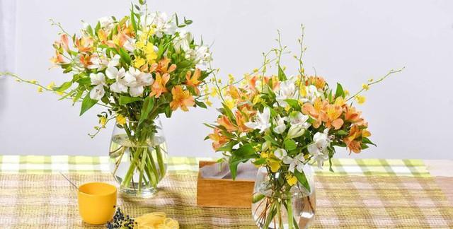 Cắm hoa ở những khu vực chức năng thường xuyên sử dụng.
