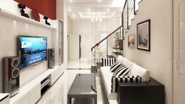 Phòng khách mang phong cách hiện đại và sang trọng.
