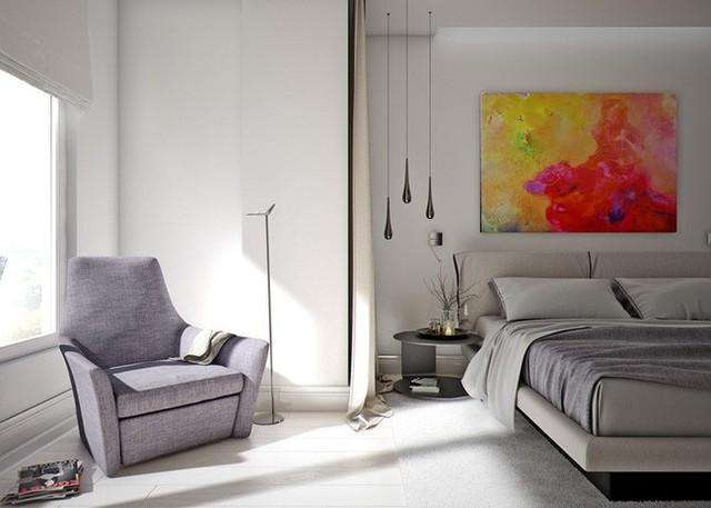 Một tấm rèm chạy dọc giữa khu vực chỗ ngồi và giường, hữu ích khi một người muốn nghỉ ngơi còn người kia thoải mái đọc sách.