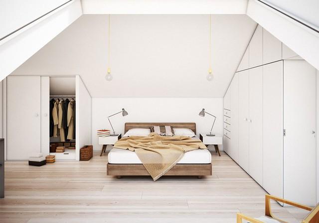 Vì phòng có rất nhiều tủ lưu trữ, nên căn phòng cũng không có mấy đồ nội thất.