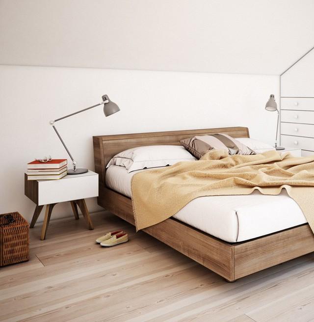 Thiết kế bảng đầu giường được làm thấp xuống để thuận tiện cho việc điều chỉnh ánh sáng đèn khu vực đầu giường.