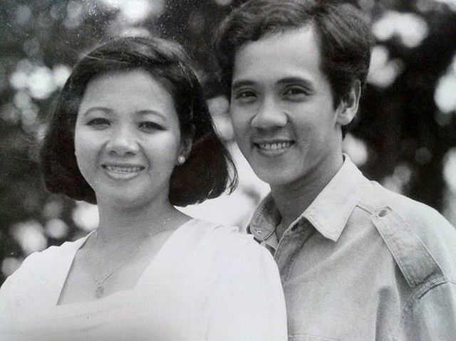 Nghệ sĩ Thành Lộc và chị gái.