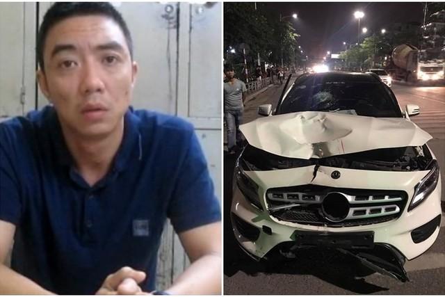 Lái xe Hiếu và chiếc xe gây tai nạn (ảnh tư liệu)