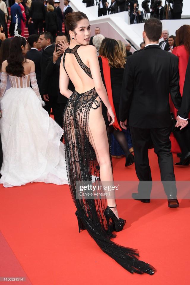 Bộ cánh gây tranh cãi của Ngọc Trinh tại LHP Cannes 2019