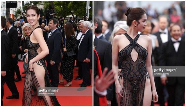 Hình ảnh thực sự không vừa mắt của Ngọc Trinh tại Cannes 2019