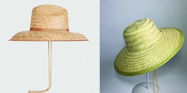 Nhiều người cho rằng chiếc nón Gucci giá 9 triệu đồng (bên tay trái) không duyên dáng bằng chiếc nón nan Việt (bên tay phải) giá chỉ 80.000 đồng.