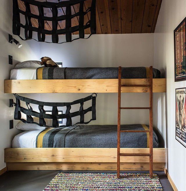Thiết kế giường tầng trong phòng ngủ giúp tiết kiệm không gian sống.