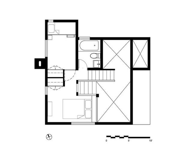 Sơ đồ bản vẽ thiết kế của ngôi nhà đặc biệt này.