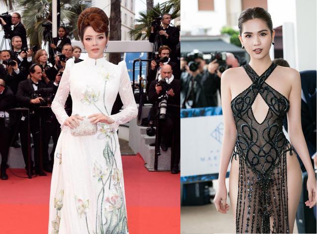 Hình ảnh đối lập của hai người đẹp Việt tại thảm đỏ Cannes