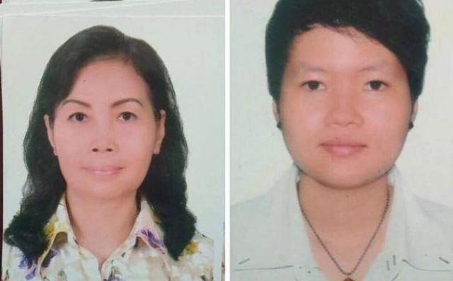 Đối tượng Trịnh Thị Hồng Hoa và Phạm Thị Thiên Hà.